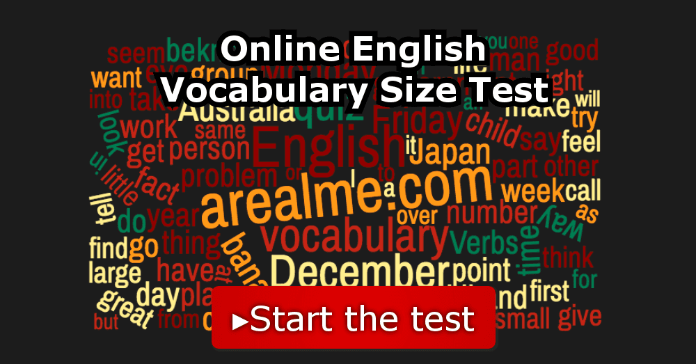 Online English Vocabulary Size Test